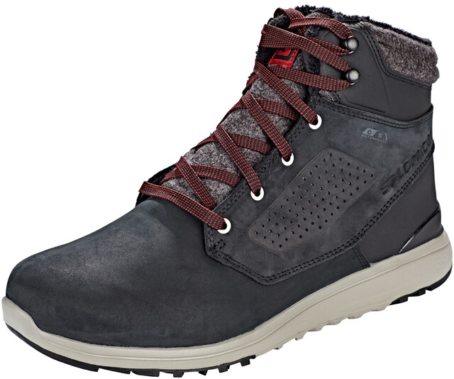 Salomon Utility CS WP Shoes Men blackblackred dahlia